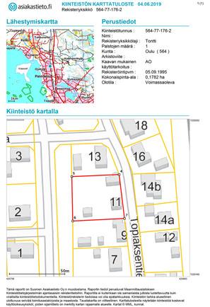 Myydaan Omakotitontti Oulu Herukka Topiaksentie 11 Etuovi Com