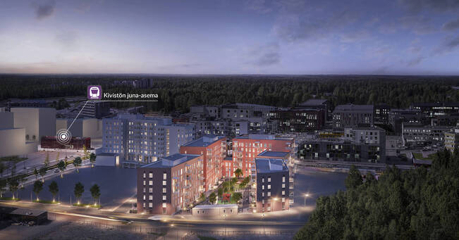 Myydaan Kerrostalo 3 Huonetta Vantaa Kivisto Keltasafiirinpolku