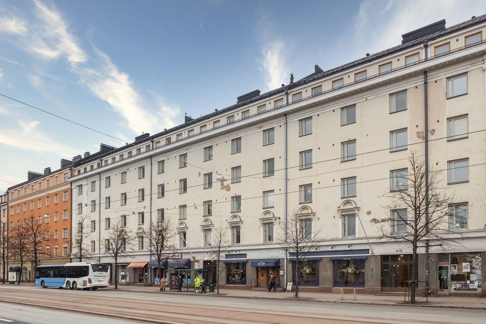Myydaan Kerrostalo Kaksio Helsinki Toolo Mannerheimintie 21 23
