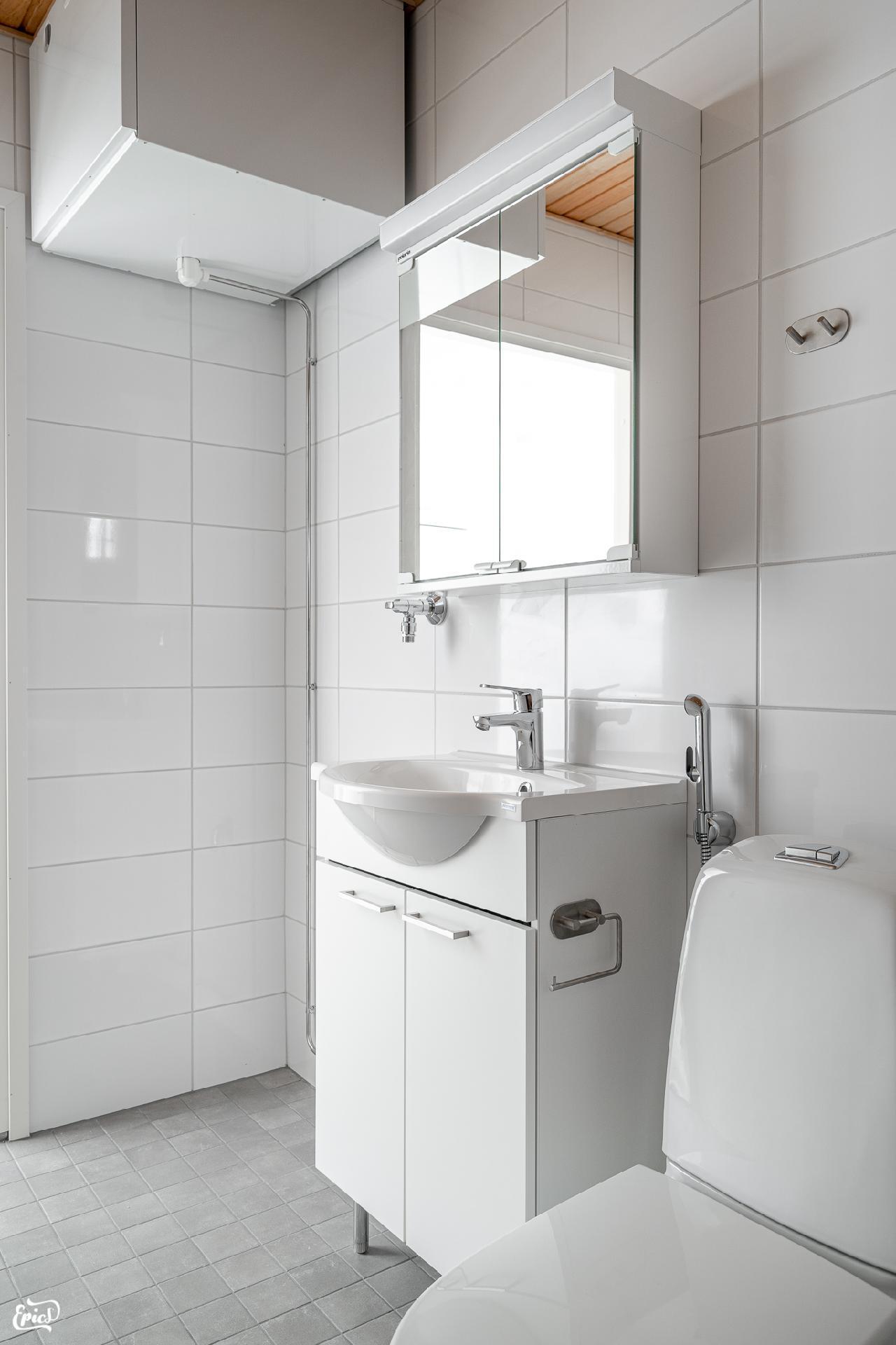 Pesuhuone (kuva viereisestä Asunto Oy Valkeakosken Antin ranta I asunnosta)