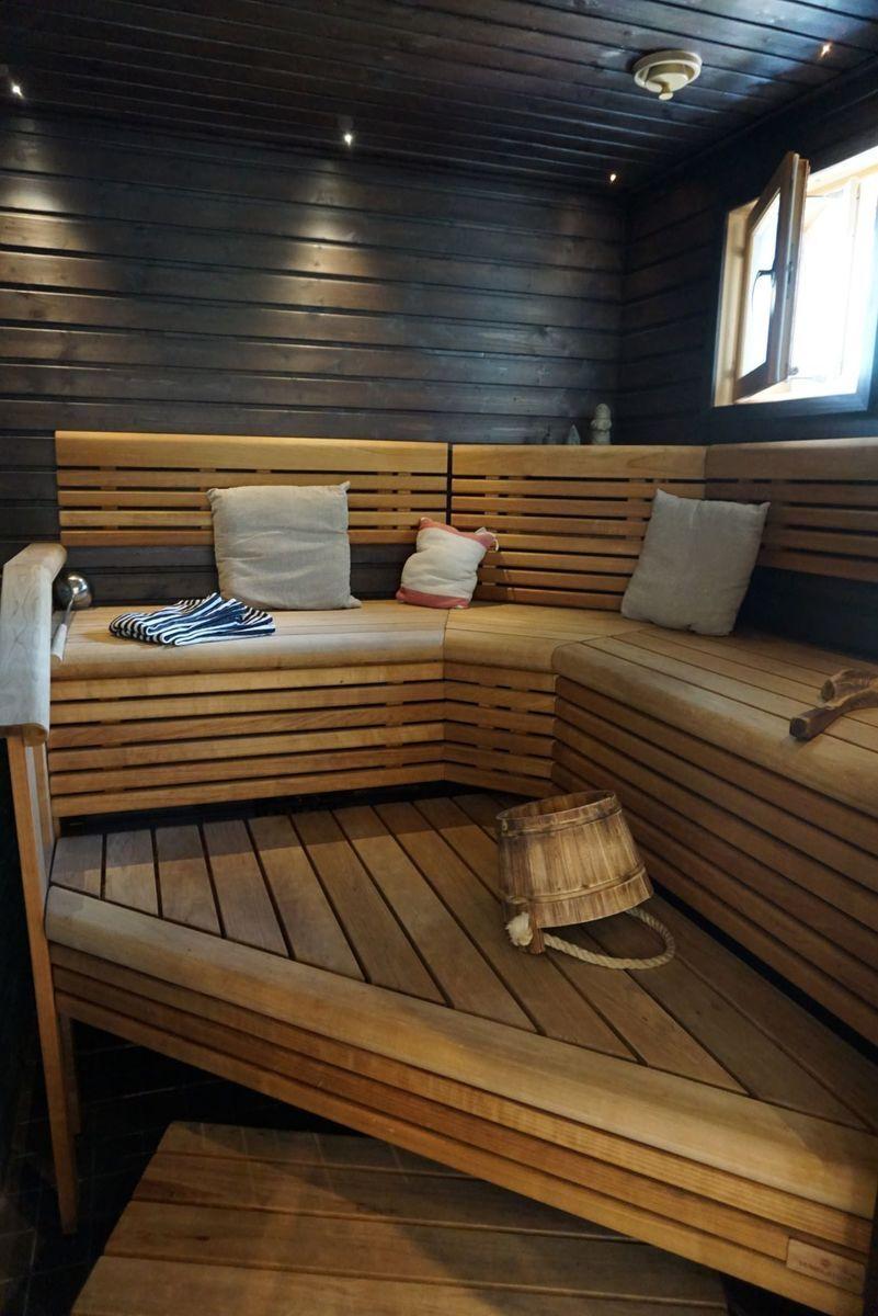 TUnnelmallinen kaunis sauna