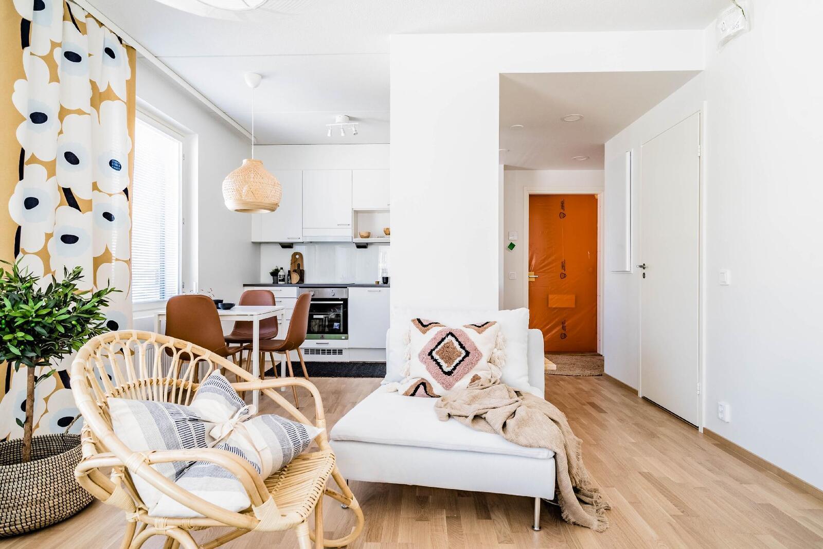 Esittelyasunto C57, 3h, k, 60 m², olohuone, keittiö, eteinen