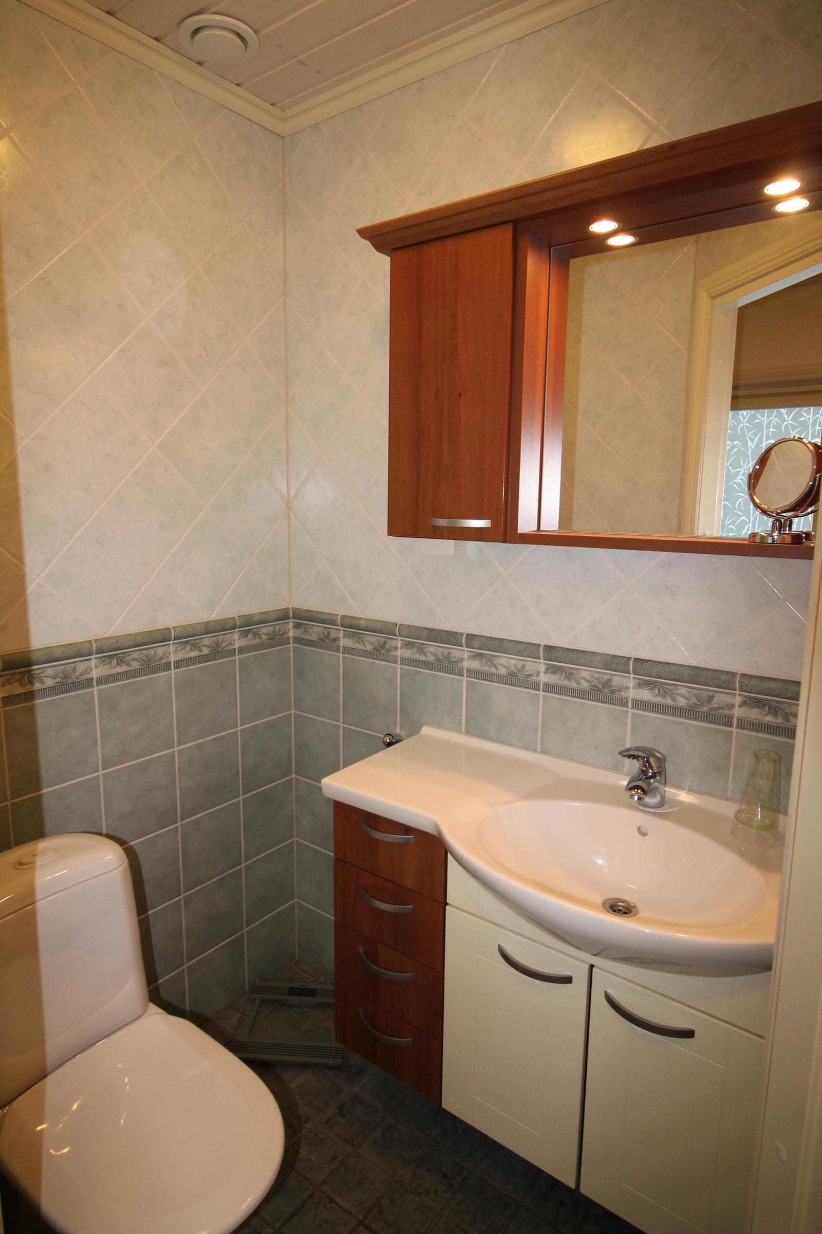 Kodinhoitohuoneen yhteydessä oleva wc.