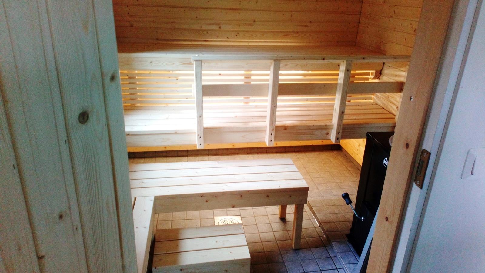 Uusi tilava sauna