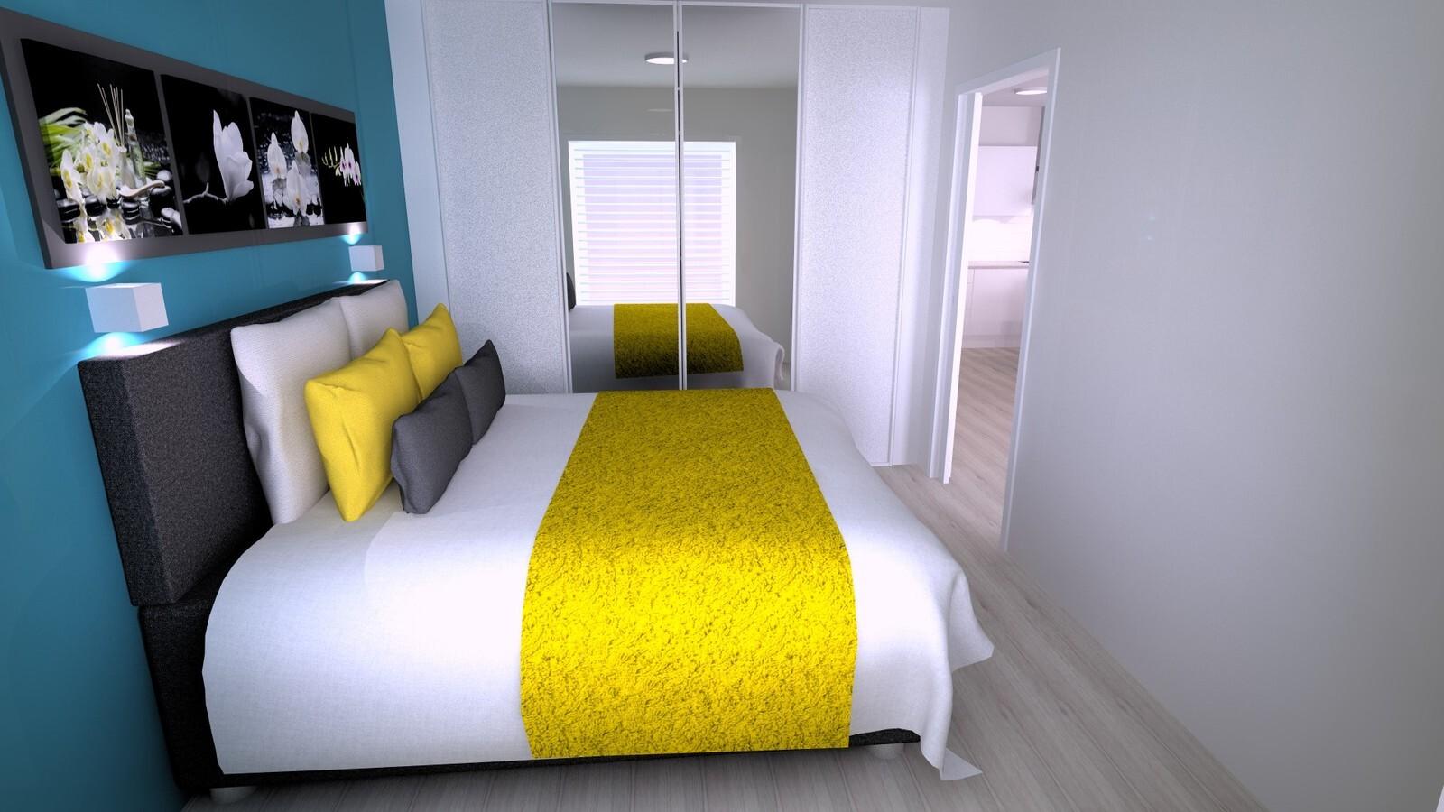 Havainnekuva makuuhuoneesta