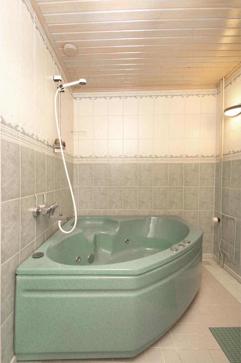Poreamme kylpyhuoneessa.