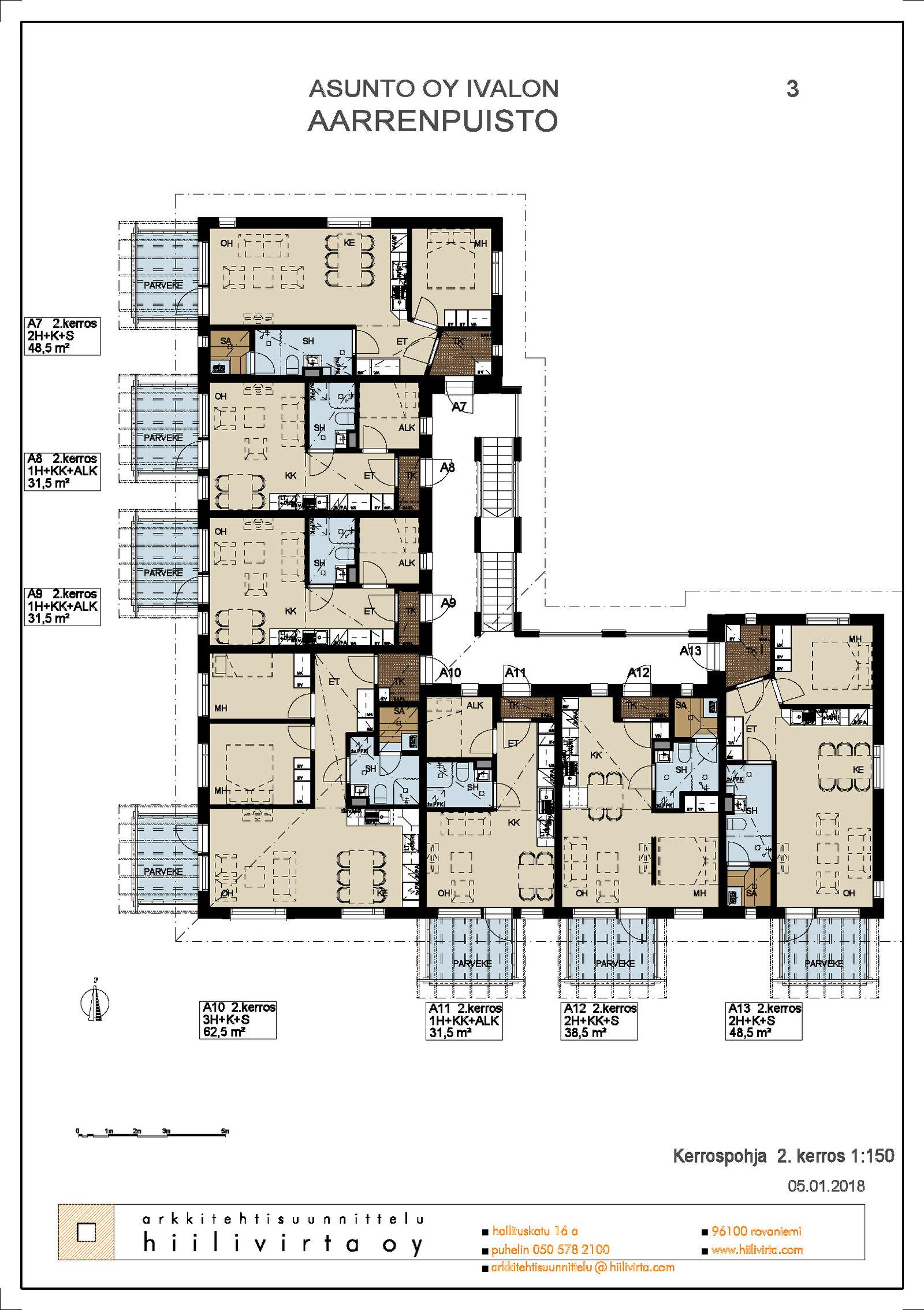 2.kerroksen pohja koko talo