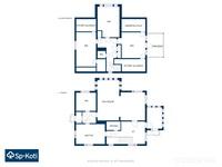 Pohjakuva 1 ja 2 kerros / Bottenplan 1 och 2 våning