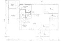 Ohjeellinen pohjakuva, yläkerrassa asuinhuone ja k