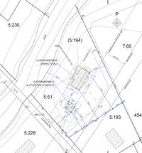 Vuonna 2014 tehty asemapiirros(luonnos). Tontille ei ole rakennettu uudisrakennuksia.