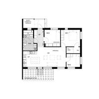 Asunnossa D8 on 4 valoisaa huonetta, lasiseinäinen sauna, tilava terassi ja piha sekä metsänäkymät!