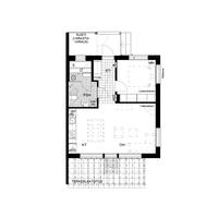 Asunnossa A1 on 2 valoisaa huonetta, lasiseinäinen sauna, tilava terassi ja piha sekä metsänäkymät!
