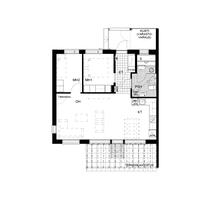 Asunnossa C5 on 3 valoisaa huonetta, lasiseinäinen sauna, tilava terassi ja piha sekä metsänäkymät!