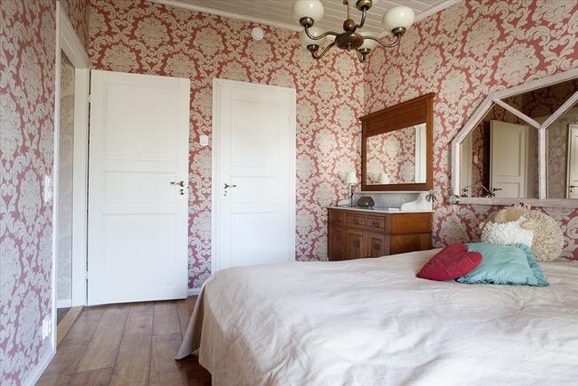 Ylä kerran makuuhuone 1 - Övre våningens sovrum...