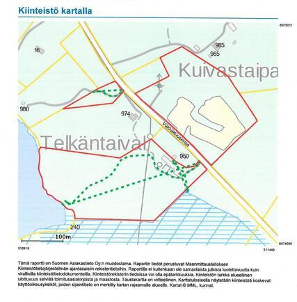 Kiinteistön kartta Telkäntaival