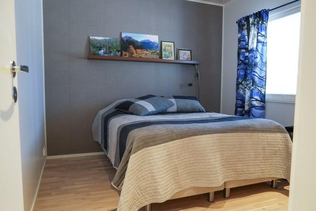 Makuuhuone valmiista asunnosta