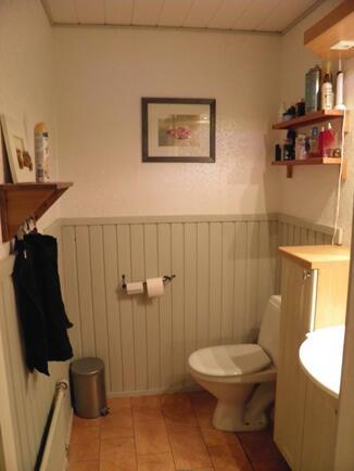 Erillinen wc-tila eteisen yhteydessä
