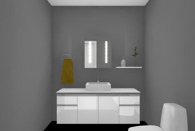 Suuntaa antava kalustekuva wc:stä