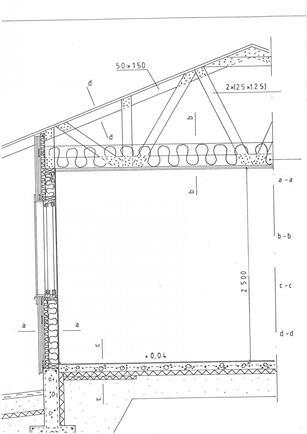 Leikkauskuva rakenteesta