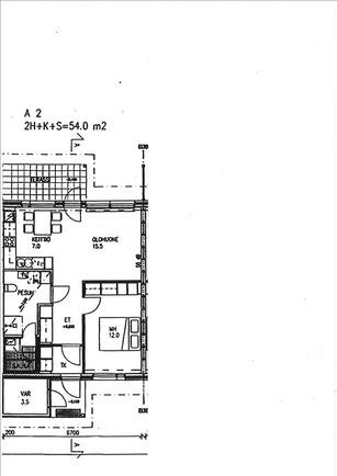 Aliinintie 8 A 4 ohjeellinen huoneiston pohjakuv...