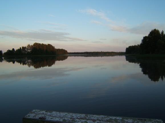 näkymä laiturilta/ kivijärvi