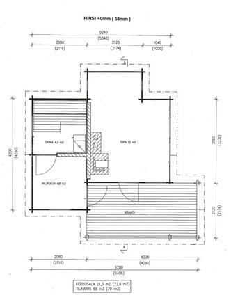 Pohjapiirustus saunarakennus(suuntaa-antava, ei...