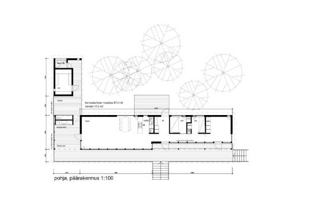 Norrholm päärakennus pohjapiirustus