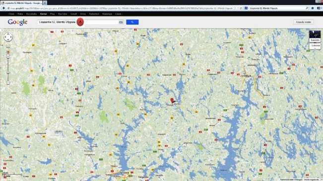 Kartta_Ympäristö_TampereVirratJyväskyläJämsä
