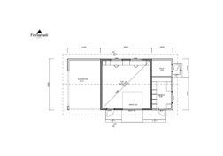 Talousrakennuksen pohjapiirustus