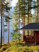 Kuva saunan nurkalta järvelle