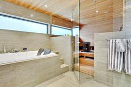 Tyylikäs, tilava,  saunaosasto