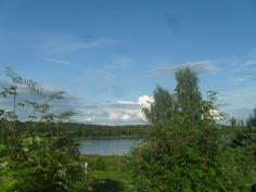 Kuvassa kaunista kesäistä järvimaisemanäkymää kiinteistön takapihalta Kiikoistenjärvelle!