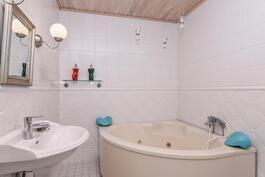 Hieno kylpyhuone.