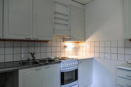 Peruskuntoinen 90-luvulla remontoitu keittiö