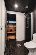 Kerrassaan upea saunaosasto/ Verkligen stilig bastuavdelning