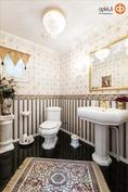 Pää-WC-tilassa laadukasta Villeroy & Bochia.