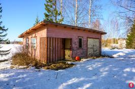 Ulkorakennus sauna ja Autotalli