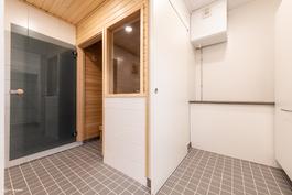 Kodinhoitohuone ja kylpyhuone