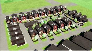 Asuntojen sijoittuminen tontilla