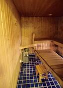 Sauna vaatii remonttia.