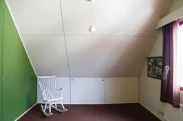 yläkerrassa on kaksi makuuhuonetta