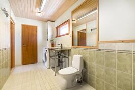 Kodinhoitohuone ja saunaosasto