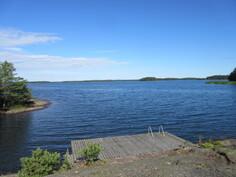 Kuvassa saunarannan uimapaikka, jossa keskivedenkorkeus on n. 1,4 m!