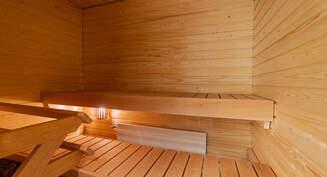 Valokuva asunnon saunasta