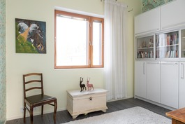 Käytännöllisessä kodissa makuuhuoneet ovat yläkerr