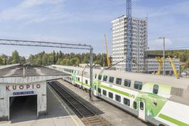 Kuopion juna-asema vieressä.