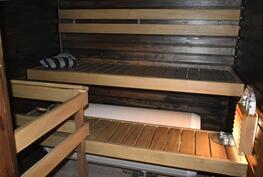 Oma sauna, sähkökiuas.