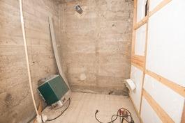 sauna tekemistä vaille valmis