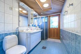 Erillinen wc ja suihkukaappi