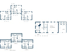 Pohjakuvat talosta ja ulkorakennuksesta